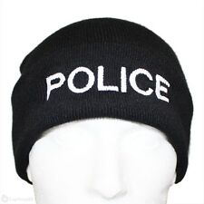 1 X Quality Police Branded Woolly Hat in Black Ideal for PCSO Police
