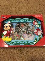 DISNEY Mickey Mouse Christmas Snow Water Globe Photo Frame 4X6 NEW