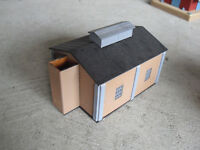 HO Scale Small Plastic Brick Finish Factory Storage Building Look