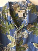 Joe Marlin Hawaiian Shirt Island Floral S/S Cotton Rayon Men's XL Extra Large