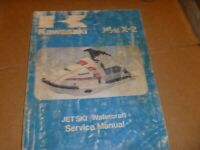 OEM 86-88 Kawasaki JF650 K2 Jetski Service Shop Repair Manual 99924-1069-03
