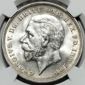 1935 KING GEORGE V GREAT BRITAIN SILVER JUBILEE CROWN COIN NGC MS63