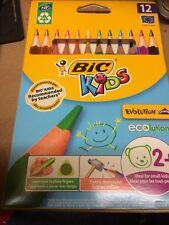 BIC KIDS EVOLUTION Triangolo ECOLUTIONS Matite colorate confezione da 12-UK Venditore