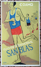 Vera Cortes Poster Serigraph Coamo Maraton San Blas DIVEDCO Puerto Rico 1971