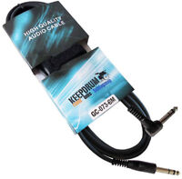KEEPDRUM GC-073 6m Stereo Audio-Kabel Klinke 6,3mm Winkelstecker