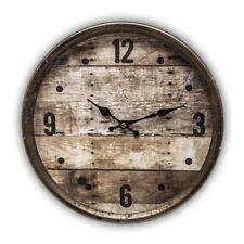 Wanduhr - Metall - Uhrwerk Dekouhr Nostalgie Modell braun Holzoptik rost Rahmen