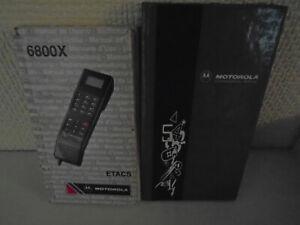 2 x EARLY MOTOROLA USER GUIDE BOOKS 6800X ETACS +