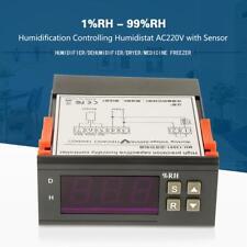 AC220V Feuchtigkeitsregler Feuchteregler Hygrometer Luftfeuchte Regler + Sensor