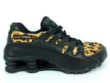 Nike Shox NZ Leopard Print Womens Size 7 Running Shoes Black Turbo Sample Brown