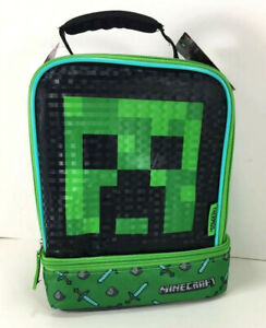 NEW Thermos Mojang MINECRAFT LUNCH BAG Box Cooler Toy Carrying Case CREEPER