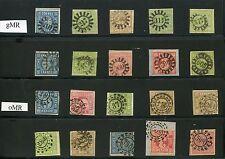 Bayern - Sammlung Mühlradstempel - gMR/ oMR ( 25967 )