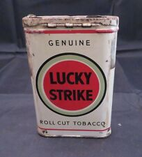 Vintage Lucky Strike Roll Cut Tobacco Pocket Tin Litho , Empty