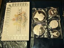 1350 - - 1971 Proof Silver 5-Coin from Mideast, the Largest Coin is 1.9271 oz