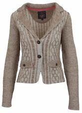 L' ARGENTINA Damen Blazer Strickjacke Cardigan Jacket Polo Größe M 38 Beige NEU