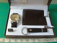 Qbos Watch, Wallet and Keyring Boxed Gift Set - Excellent condition
