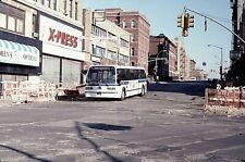 Original Kodachrome Slide Nyc Bus 1985 Gm Rts #4204 Bx-2 Melrose-E 149 1/30/94