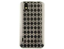 TPU Flexible Plastic Checkered Wrap-On Phone Protector Case Clear for LG Marquee