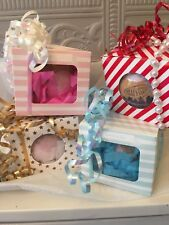 Bath Bombs Fizzers XL Gifts Wrapped  4 Fragrances Mango/Strawberry/Lavender/Rose