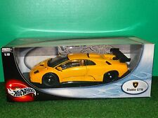 Hot Wheels Lamborghini Diablo GTR 1:18 Scale Diecast Yellow 2002 Model Car 53835