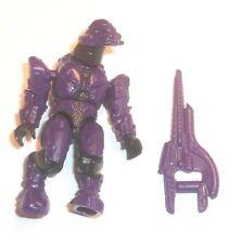 Halo Mega Bloks Figures ~ 2013 CONVENANT ELITE COMMANDO (Purple) & Carbine