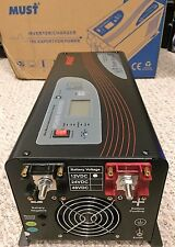 Pure Sine Wave Inverter 2000 Watt 6000w Peak Low Frequency 12V 120VAC w/ Charger