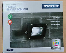 Black LED Flood Light Lamp 10w Wall Mounted Security Great Value!