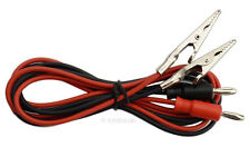 Kabelpaar mit Bananenstecker und Krokodilklemmen rot + schwarz Messkabel #742