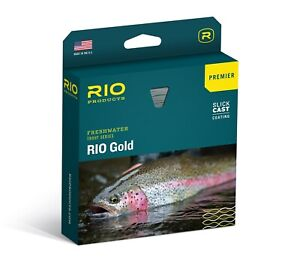 RIO Premier Gold Fly Line - Color Melon / Gray Dun - WF4F - New