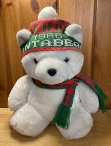 "Vintage 1986 Dayton Hudson Christmas Plush Santa Bear 22"" Holiday Stuffed Animal"