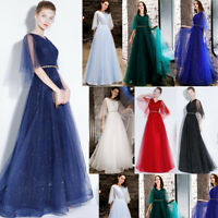 Noble Evening Formal Party Ball Gown Prom Bridesmaid Sequins Long Dress TSJY