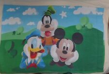 A -Vintage Disney Mickey Mouse Clubhouse Pillowcase Donald Mickey Goofy Standard