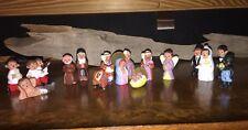 17 Vtg Mexican Miniature Clay Pottery Figurines Bride Groom Mermaid Nativity +++