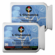 L-glutamine Peptide Plus Fort 500 mg x 120 caps Muscle restauration acides aminés