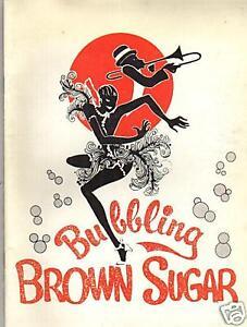 BUBBLING BROWN SUGAR MUSICAL PROGRAM BOOK
