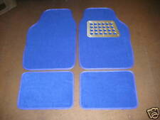 Universal Car Mats in Bright Blue with Alum Plate