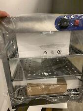 Commercial Food Warmer Heat Food Display Warmer Cabinet 3-Tier Glass
