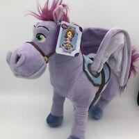 "Disney Minimus Plush Stuffed Animal Horse Sophia The First Pegasus Brand New 22"""