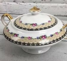 KT & K Knowles Taylor China Roses SUGAR BOWL With Lid Pottery Dinnerware