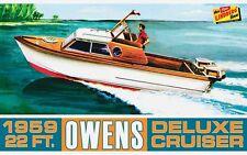 Lindberg 1/25 Owens Outboard Deluxe Cruiser Boat Plastic Model Kit HL222 LND222