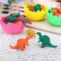 NEW 1set of Lot Tiny Dinosaurs Pencil Eraser in Egg Collectibles Stationery Toys