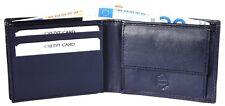 Herren-Geldbörse 11 x 8 cm Blau Echt-Leder Portemonnaie D-42100021008400