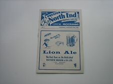 Football Programme Preston North End v Charlton Athletic 27th August 1963