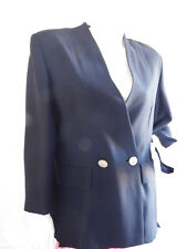 Veste Vintage Pierre Cardin Style Marin Taille M Viscose et Laine Made In Italie
