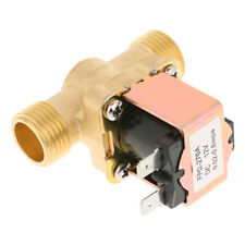 "1/2"" inch Brass Electric Solenoid Valve 12V DC Normally Closed Water Oil Diesel"