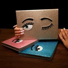 Cute Cartoon Golden Blink Big Eye Case Smart Cover For Apple iPad 5 6 Air 1 2