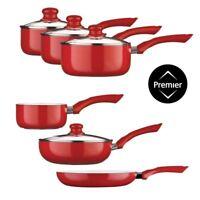 Ecocook Saucepan Set Non Stick Ceramic Coating & Glass Lids Frying Pan