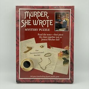 Murder She Wrote Mystery Puzzle The Unconventional Murder 550 Piece 1984 Vintage