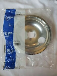 "New Genuine OEM GE Oven Range 8"" Chrome Drip Pan Burner Bowl  WB31T10011"