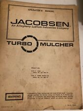 Jacobsen Turbo Mulched Operators manual item 72