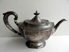 Antique Dominick & Haff Queen Anne Sterling Silver Teapot